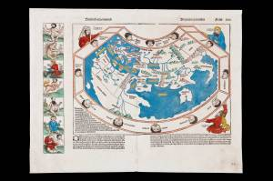 World map, untitled, 1493